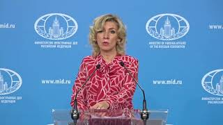 Брифинг М.Захаровой, Москва, 6 марта 2020 года