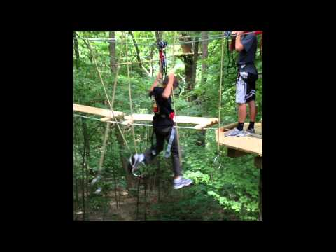 """Go Ape Treetop Adventure"" at Eagle Creek Park in Indianapolis, Indiana"