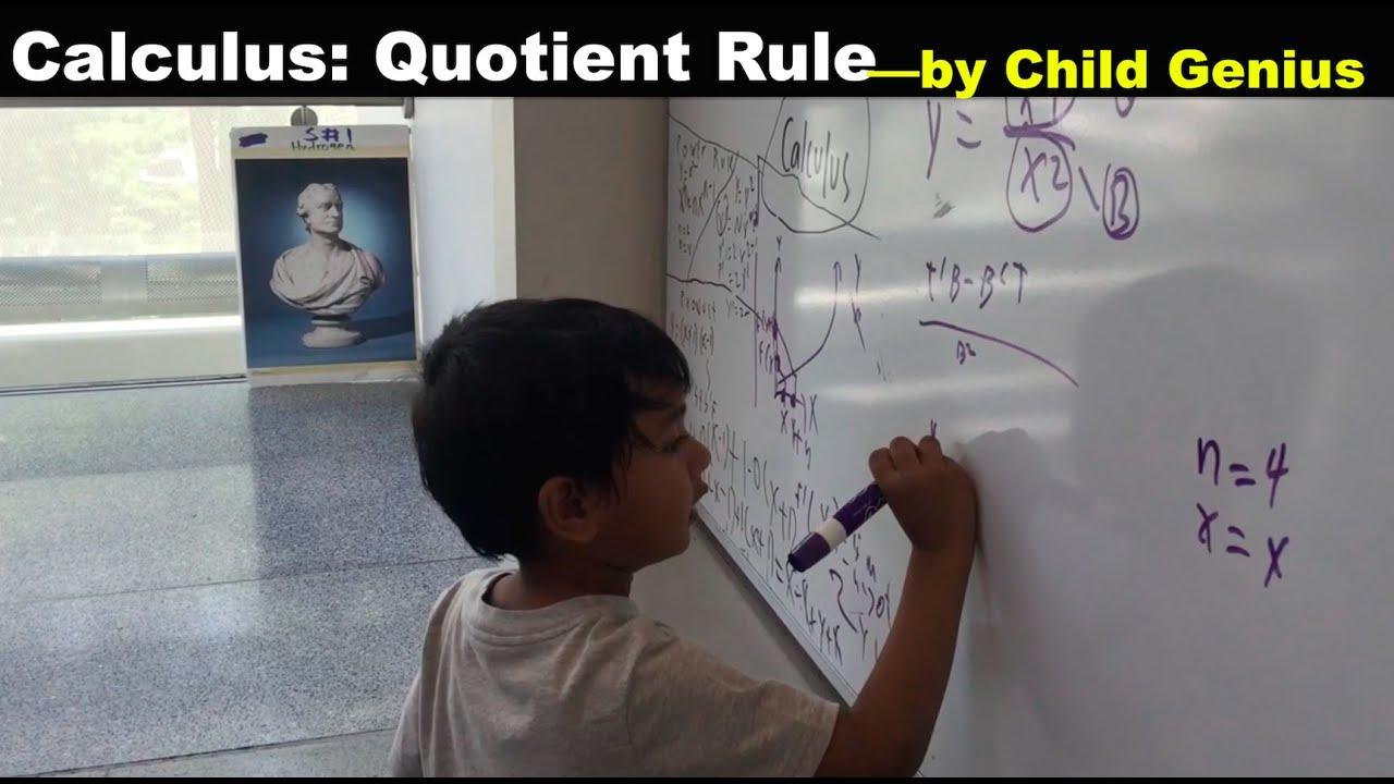 Calculus: Quotient Rule by Child Genius