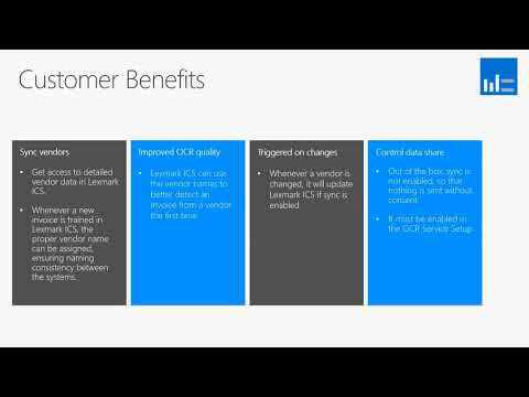 What's New In Microsoft Dynamics NAV 2018 - Syncing Vendors to OCR