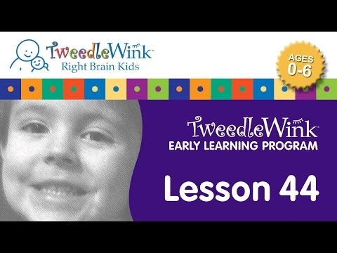 TweedleWink Right Brain Early Learning Program (Lesson 44)