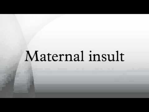 Maternal insult