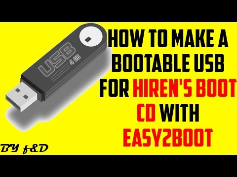 Run hiren's boot cd from USB with easy2boot (step by step guide)