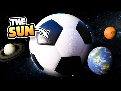 WHAT IF THE SUN WAS A SOCCER BALL? - Universe Sandbox 2 VR
