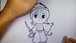 คุจิกิ ลูเคีย จาก การ์ตูน Bleach เทพมรณะ วาดการ์ตูน กันเถอะ