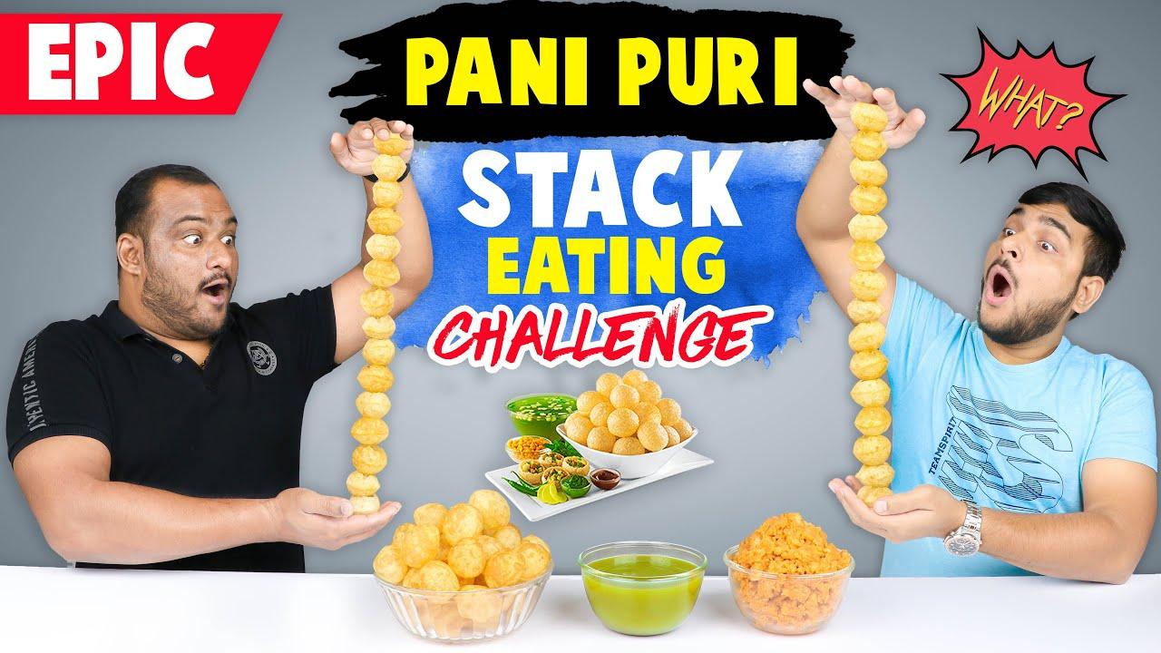 EPIC PANI PURI STACK CHALLENGE | Golgappa Eating Challenge | Eating Competition | Viwa Food World