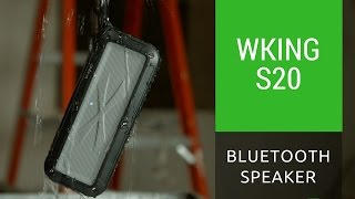 WKing S20 Waterproof Bluetooth Speaker Actual Sound Test and Unboxing