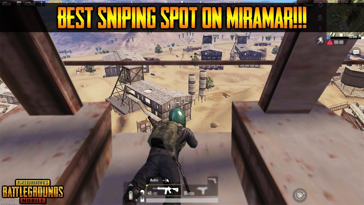 GREAT SNIPING SPOT ON MIRAMAR | Best Sniping Location | Pubg Mobile 0 7 0!!!