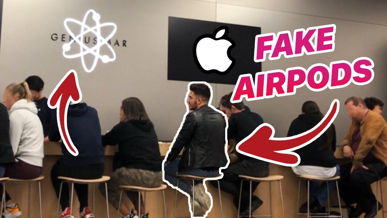 PASSER EN GARANTIE DES FAUX AIRPODS CHEZ APPLE!!!