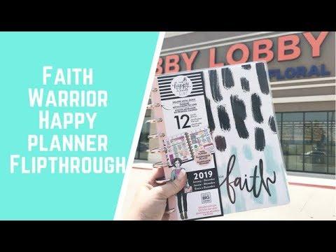 """""""Faith Warrior"""" Happy Planner Flipthrough"""