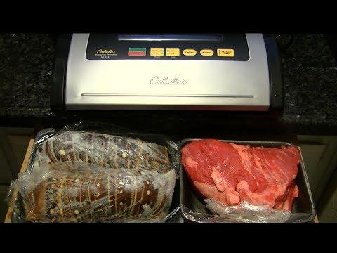 cabela's-premium-vacuum-sealer-lobster-&-steak-testing