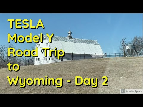 Tesla Model Y Road Trip to Wyoming - Day 2