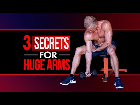 3 Workout Secrets For HUGE Arms (AT HOME!)