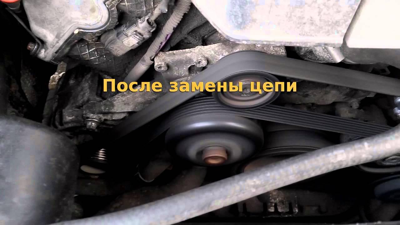отчет по замена гидронатяжителя цепи на мерседес мл-164