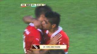 Gol de Rigoni. Independiente 1 - Belgrano 0. Fecha 1. Primera División 2016