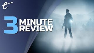 Alan Wake Remastered | Review in 3 Minutes (Video Game Video Review)