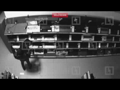 Ограбление магазина компьютерной техники попало на видео