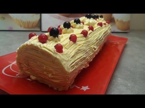 gâteau-roulé-à-la-vanille-express-facile-et-rapide-avec-la-crème-au-beurre.-easy-recipe-🍠-goûter-💥👍
