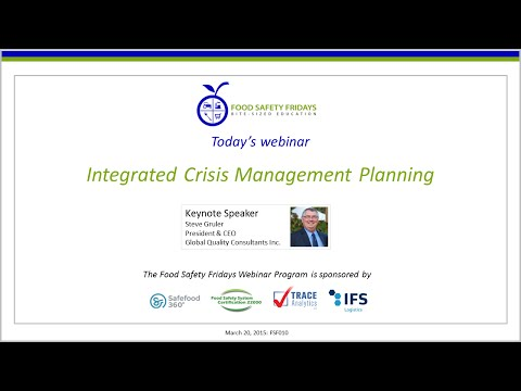 Integrated Crisis Management Planning