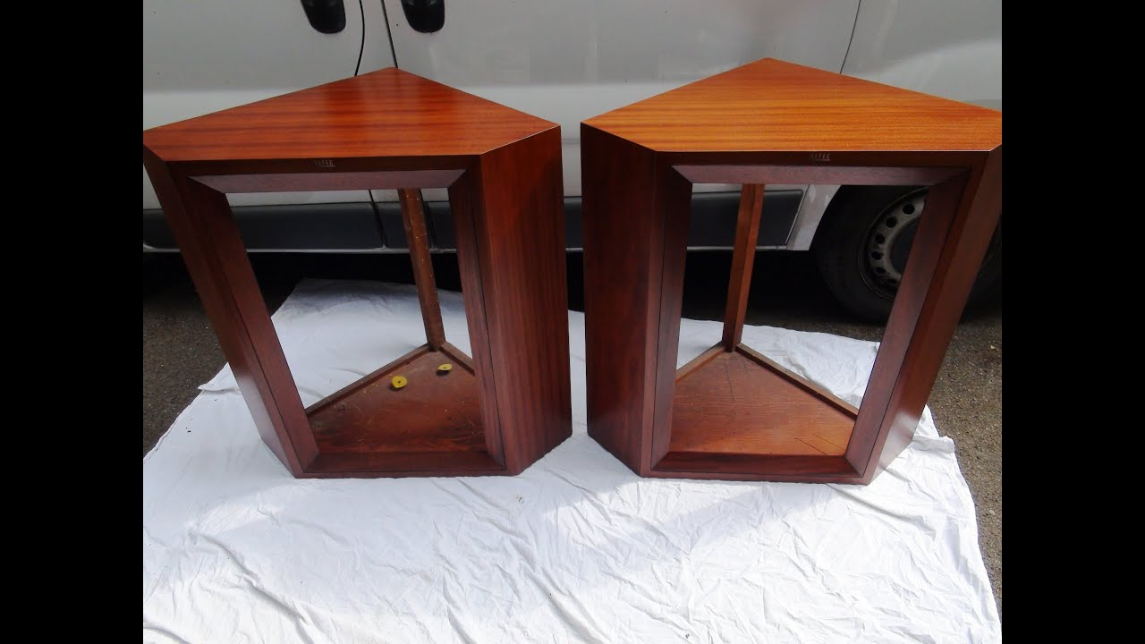 STUNNING 1950u0027 ALTEC SPEAKERS Restored, Veneer Replacement, Refurbished,  Repaired London   YouTube