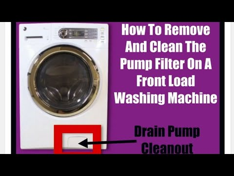 Cleaning the drain pump filter/water filter in a frontload washing machine