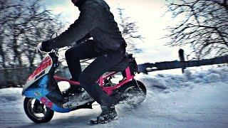 матакрос кроссовый скутер из yamaha jog тест драйв 2 часть