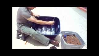 How To Make A Self-watering Container For Planting Your Own Garden With Limited Space. Sun Required.
