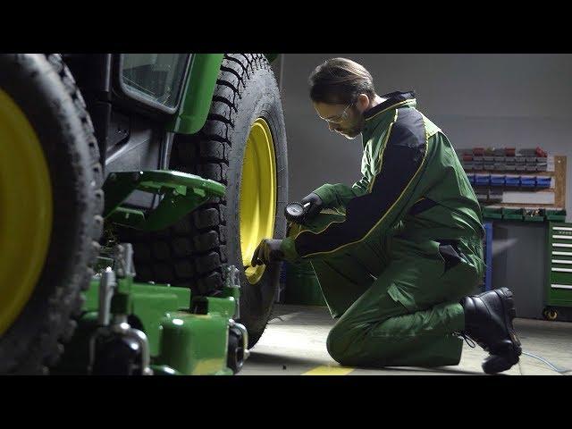 John Deere   Expert Tip Turf   Cutting Height Adjustment