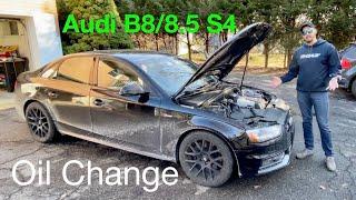 HOW TO Audi S4 Engine Oil Change 3.0L V6 (2010-2016 B8/8.5)