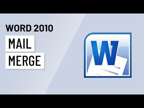Word 2010: Mail Merge
