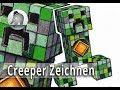 Fidget Spinner Creeper - Die Zeichnung