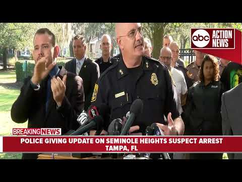 Tampa police give update on arrest of suspected Seminole Heights killer