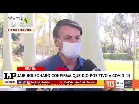Jair Bolsonaro confirma que dio positivo...