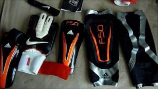 Nike gk spyne pro soccer gloves/adidas f50 techfit shinguards soccer.com unboxing