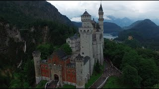 Neuschwanstein and Hohenschwangau castles with the DJI Phantom 3 Pro in 4k