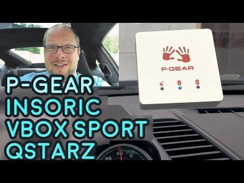 Messung 0-100 und 100-200 mit P-Gear, Insoric, Qstarz und VBox Sport (Racelogic)