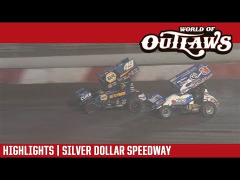 World of Outlaws Craftsman Sprint Cars Silver Dollar Speedway September 7, 2018 | HIGHLIGHTS