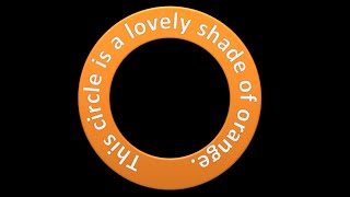 Create Text as a Circle Shape