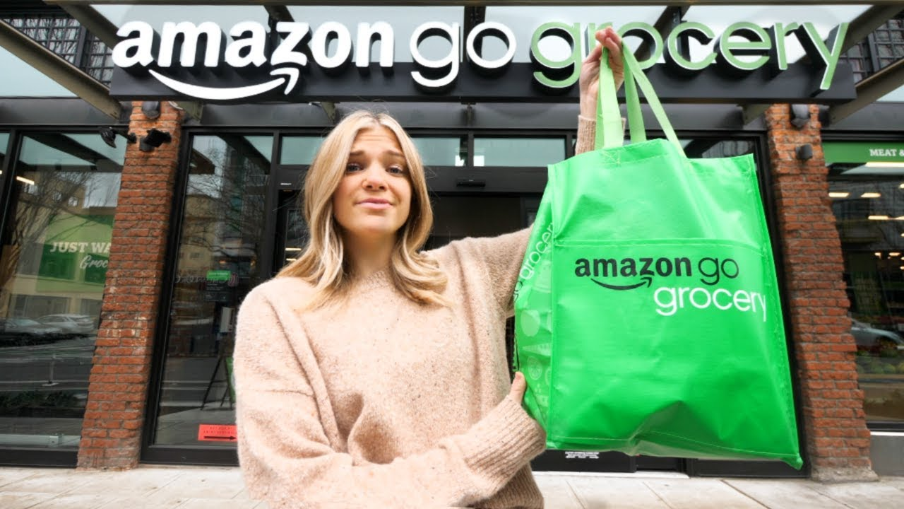 Inside The NEW Amazon GO CASHIERLESS Grocery Store