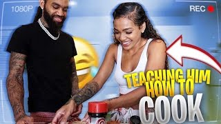 TEACHING BABY DADDY HOW TO COOK.... ** GONE WRONG**