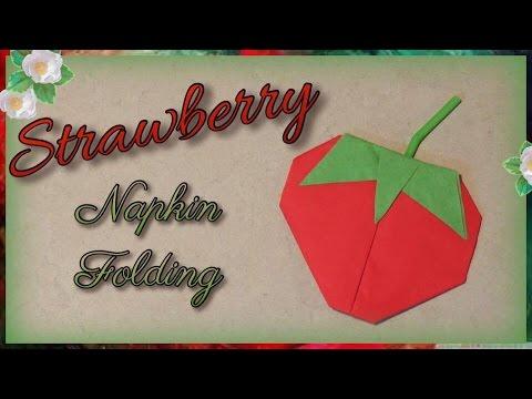 Strawberry Napkin Folding