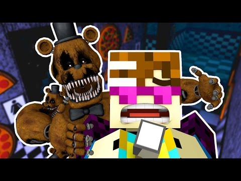 FNAF World - THE NIGHT-GUARD NIGHTMARE! (Minecraft Roleplay)