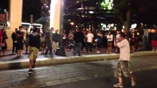 Drunk Guy Fight in Downtown Portland Oregon