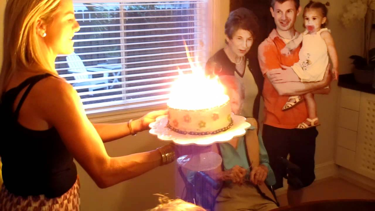 Grandma Blows Out A Cake With 102 Candles For Her Birthday YouTube