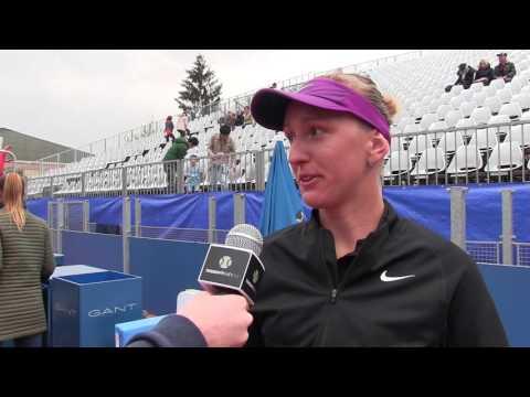 Tereza Smitková po vyhraném zápase na J&T Banka Prague Open 2016