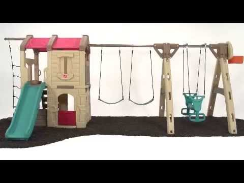 Naturally Playful Adventure Lodge Play Center with Glider   Outdoor Play   by Step2