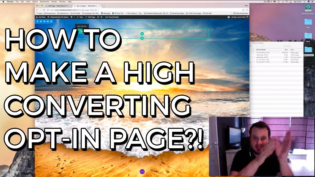how to make an opt in page