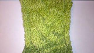 Узор коса спицами-для начинающих.Как вязать узор Жгут?Вязание косы на спицах Узор Knitting pattern