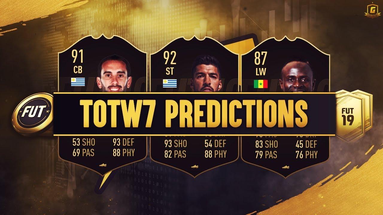Totw 7 Predictions Fifa 19