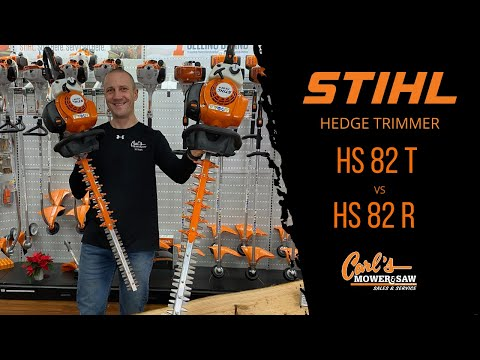 Comparing the Stihl HS 82-T and HS 82-R Hedge Trimmers